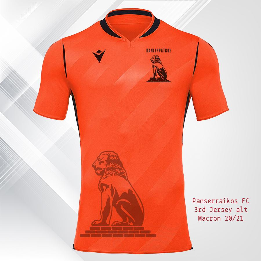 Panserraikos FC Jersey 20 21 Final ORANIE ALT SPONSOR